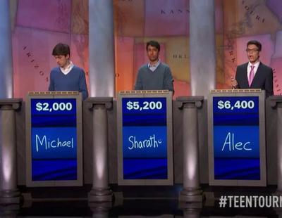 'Jeopardy!': Un adolescente pierde el premio de 100.000 dólares por un dólar de diferencia con su oponente