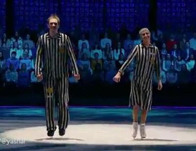 Tatyana Nakva recrea el Holocausto en una actuación de baile sobre hielo de la televisión rusa