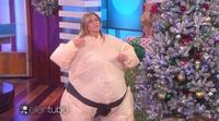 Jennifer Aniston y Ellen DeGeneres se convierten en sumos al estilo 'Humor amarillo' y bailan sin parar