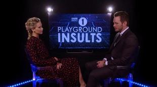 Jennifer Lawrence y Chris Pratt se insultan el uno al otro en BBC Radio 1