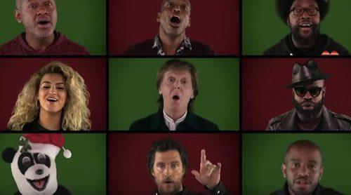 "Jimmy Fallon reúne a estrellas de cine y televisión para cantar ""Wonderful Christmas Time"""