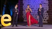 """Los problemas de Eloísa González para taparse """"el triangulito"""" en las Campanadas 2016-2017 de TV Canaria"""