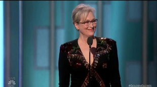 Así ha sido el impactante discurso de Meryl Streep en los Globos de Oro 2017