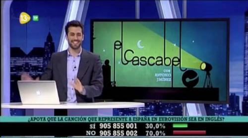 El 70% de los espectadores de 'El cascabel' no apoya que España envíe a Eurovisión una canción en inglés