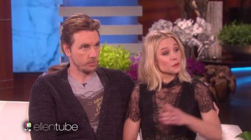 Kristen Bell ('Veronica Mars') y Dax Shepard visitan a Ellen y ella confiesa la identidad de su amor platónico