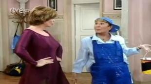 Bárbara Rey con Lina Morgan en 'Academia de baile Gloria'