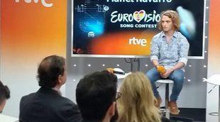 La rueda de prensa íntegra de Manel Navarro en la que Federico Llano y Toñi Prieto no quisieron intervenir