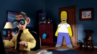'Los Simpson': Homer se adentra en 'Robot Chicken' para recuperar un cuadro en el nuevo opening de la serie