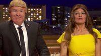 """'Late motiv': Raúl Pérez y Silvia Abril imitan a Donald Trump y Melania en """"La La Trump"""""""