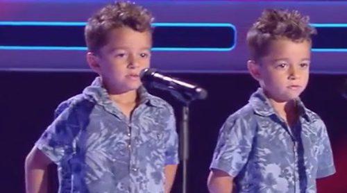'La Voz Kids': Los gemelos Antonio y Paco emocionan a los coaches en la tercera edición del talent show
