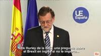 La insólita respuesta de Mariano Rajoy cuando la BBC le hace una pregunta en inglés