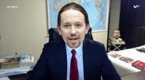 'Late motiv' parodia con Pablo Iglesias la accidentada entrevista de la BBC