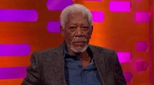 "'The Graham Norton Show': Morgan Freeman parodia su discurso de ""Cadena perpetua"""