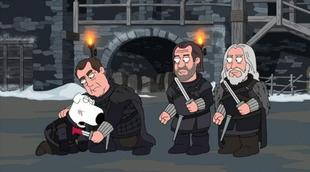 'Padre de familia': Brian se convierte en Jon Snow ('Juego de tronos') y vuelve a morir, esta vez asesinado