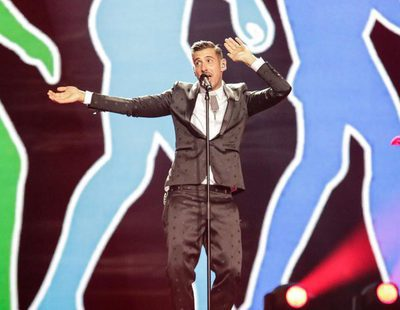 """Eurovisión 2017: Primer ensayo de Francesco Gabbani (Italia) cantando """"Occidentali's Karma"""""""