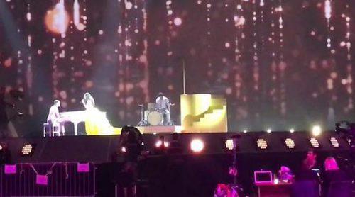 """Eurovisión 2017: Segundo ensayo de Timebelle (Suiza) cantando """"Apollo"""""""