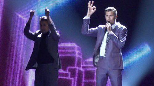 Eurovisión 2017: Primer ensayo con vestuario de Robin Bengtsson (Suecia) para la semifinal