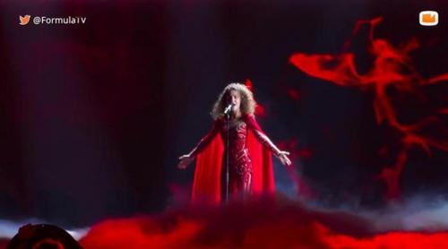 Eurovisión 2017: Primer ensayo con vestuario de Tamara Gachechiladze (Georgia) para la semifinal
