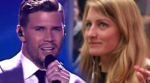 Eurovisión 2017: Reacciones de la zona de prensa a la actuación de Robin Bengtsson (Suecia) en la 1ª semifinal