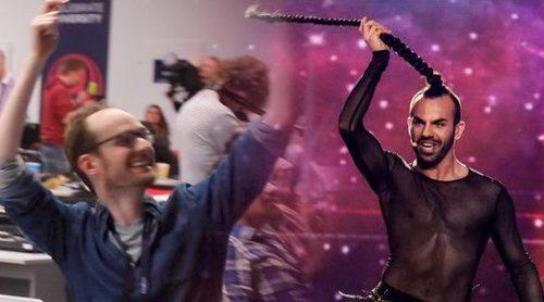 Eurovisión 2017: Así se ha vivido en la sala de prensa la original actuación de Slavko (Montenegro)