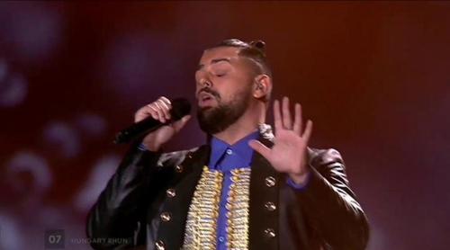 "Eurovisión 2017: Joci Pápai (Hungría) canta ""Origo"" en el Festival"
