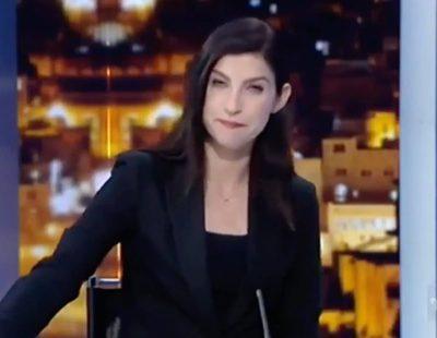 Una presentadora israelí llora al anunciar en directo el cierre de su cadena