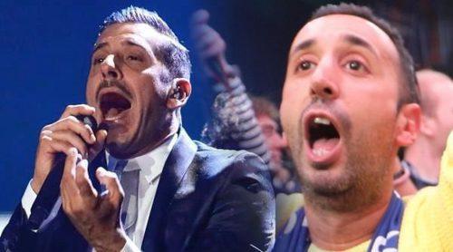 Eurovisión 2017: Francesco Gabbani (Italia) pone en pie a la zona de prensa en la final