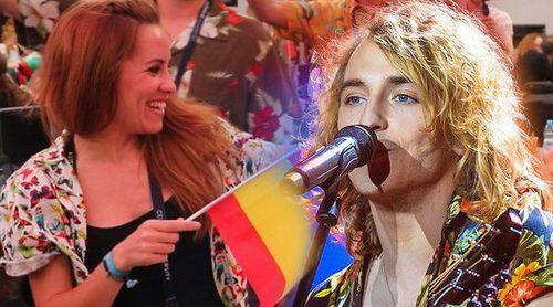 Eurovisión 2017: Las reacciones en la zona de prensa a la actuación de Manel Navarro (España) en la final