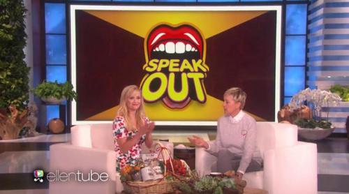 'The Ellen DeGeneres Show': Reese Witherspoon reta a Ellen a adivinar palabras de una surrealista forma