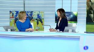 """Ana Blanco llama """"Jesús"""" a Raquel González, la presentadora de Deportes"""