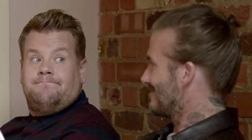James Corden y David Beckham pelean por ser el nuevo James Bond en un hilarante sketch de 'The Late Late Show'