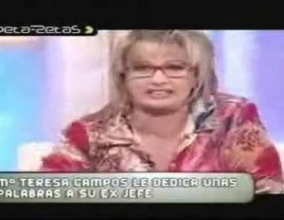 """María Teresa Campos llama """"gilipollas"""" a Paolo Vasile en 'Cada día' (Antena 3)"""