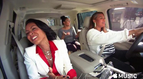 James Corden muestra un adelanto de la serie de 'Carpool Karaoke' con Queen Latifah y Jada Pinkett Smith