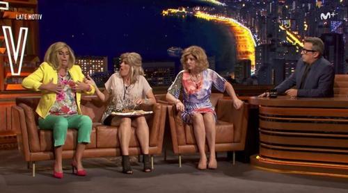 Las Campos de 'Homo Zapping' visitan a Buenafuente en 'Late Motiv'