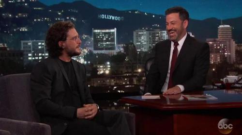 'Juego de Tronos': Kit Harington desvela en 'Jimmy Kimmel Live!' las escenas falsas que rodó