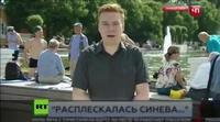 El brutal puñetazo en directo de un hooligan ruso a un periodista de la cadena NTV