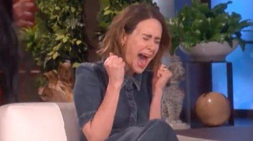 Sarah Paulson ('American Horror Story'), víctima de los múltiples sustos de Ellen DeGeneres