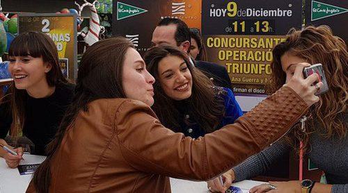 Directo de la firma de discos de 'OT 2017' con Aitana, Ana Guerra y Miriam en Valencia
