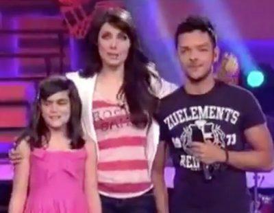 Amaia Romero junto a Pilar Rubio cuando anunció la apertura de los castings de 'OT 2011'