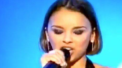 """Así fue la actuación ganadora de Chenoa en el Eurobest con el tema """"It's raining men"""""""