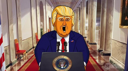 Avance de 'Our Cartoon President' de Showtime, la serie de animación sobre Donald Trump