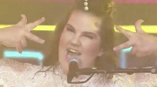 """Netta Barzilai, representante de Israel en Eurovisión 2018, canta un mix de """"Gangnam Style"""" y """"Tik Tok"""""""