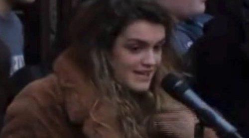 Amaia Romero ('OT 2017') ante multitud de seguidores en un acto en Pamplona