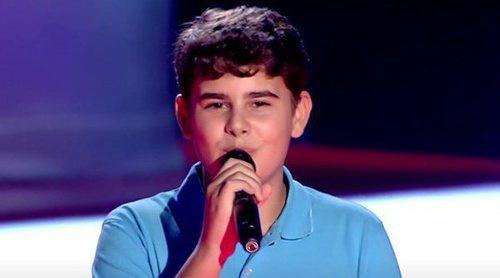 'La Voz Kids 4': Los coaches se rinden ante la potencia vocal de Óscar en las audiciones a ciegas