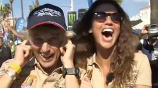 Lara Álvarez y Jesús Calleja son piloto y copiloto en el Rally más emblemático que existe en 'Planeta Calleja'