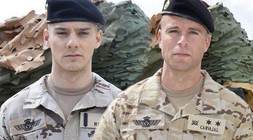Los actores de 'Los nuestros 2' explican cómo se enfrentan al proyecto desde la Base militar donde ensayan