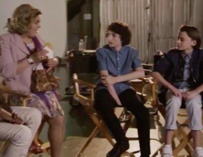 El surrealista encuentro entre Paquita Salas y los niños de 'Stranger Things'