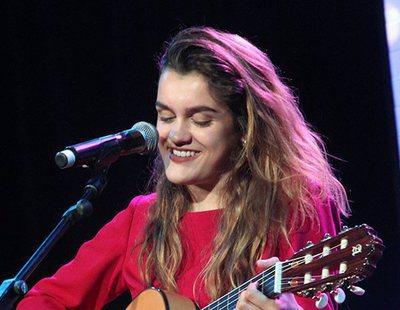 """Amaia canta """"Al cantar"""" de Rozalén en la ESPreParty 2018 de Madrid"""