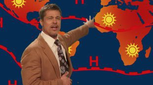 Brad Pitt se convierte en un peculiar hombre del tiempo en 'The Jim Jefferies Show'
