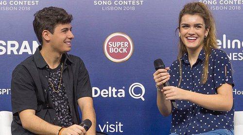 Eurovisión 2018: Primera rueda de prensa de España con Amaia y Alfred